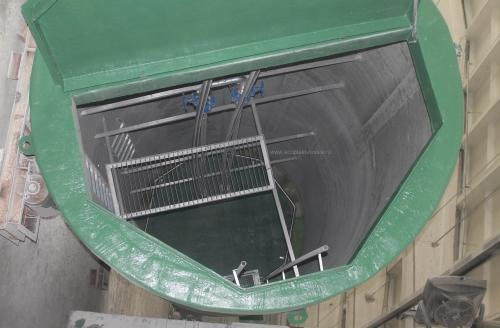Канализационная насосная станция и песколовка изготовленные из стеклопластика по технологии непрерывной намотки. Фото на заводе перед отправкой. г.Клин 2014