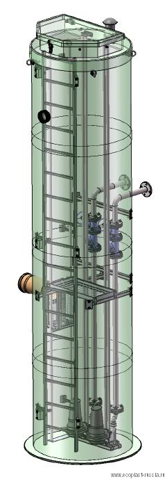 КНС из стеклопластика для коттеджного поселка Речной МО